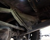Waterproof Off Road LED Rock Light Kit: Shown Mounted Over Jeep Axle.