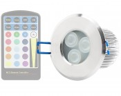 Waterproof Recessed RGB LED Downlight, G-LUX series (remote sold separately)