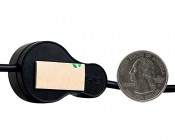 Weatherproof High Power LED Flexible Light Strip with Push Button Switch: Shown With Sticky Mount & Size Comparison
