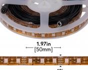 Outdoor LED Strip Lights - Pink 12V LED Tape Light w/ Plug and Play Connectors - Weatherproof - 25 Lumens/ft.