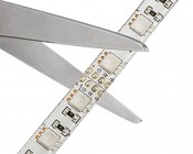 Weatherproof High Density RGB LED Strip Light - Flexible Custom Length LED Tape Light - 18 SMDs/ft. - 3 Chip SMD: Strips May Be Cut at the Locations Indicated by the Scissor Symbols