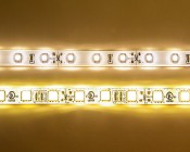 3528 SMD LEDs on WFLS-x Series (above) & 5050 SMD LEDs on WFLS-X3-WHT Series Weatherproof LED Flexible Strip (below)