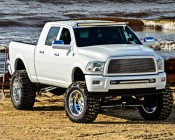 """40"""" Off Road Curved LED Light Bar - 240W: Installed On Top Of Truck"""