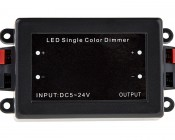 Wireless 12~24 Volt DC LED Dimmer with Wireless RF Remote: Front View of Dimmer