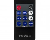 Wireless 12~24 Volt DC LED Dimmer with Wireless RF Remote: Front View of Remote