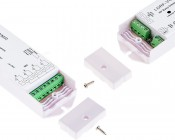 Wireless Easy Dimmer series Wireless Variable Color Temperature LED Dimmer Receiver: Screw Off Covers To Access Connection Spots