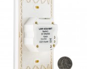 Wireless Easy Dimmer series Wireless LED Dimmer Switch for Easy Dimmer Receiver: Back View With Size Comparison