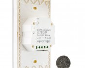 Wireless Easy Dimmer series Wireless Multi-Zone RGB+White LED Dimmer Switch for Easy Dimmer Receiver: Back View With Size Comparison