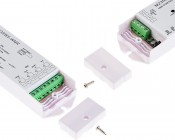 Wireless Multi-Zone Easy Dimmer series Wireless RGB+White LED Dimmer Receiver: Screw Off Covers To Access Connection Spots
