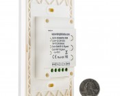 Wireless RGBW Touch LED Dimmer Switch for EZ Dimmer Controller: Back View with Size Comparison
