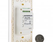 Wireless Single Color LED Dimmer Switch for EZ Dimmer Controller: Back View with Size Comparison
