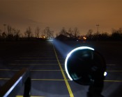 """LED Auxiliary Light - 6"""" Round 15W Heavy Duty Off Road Driving Light 250 Feet To Tree Line"""