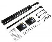 Portable LED Work Light Kit w/ Telescoping Tripod - 7,000 Lumens: All parts Included