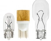 194 LED Bulb - 1 Strobing COB LED - Miniature Wedge Retrofit: Profile View