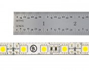 Outdoor LED Light Strips - Weatherproof LED Tape Light with 18 SMDs/ft. - 3 Chip SMD LED 5050: Close Up View Showing Ruler Measurement of Individual Segment