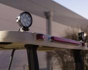 """LED Light Pod - 4"""" Round LED Work Light - 22W - 1,600 Lumens - Installed On Golf Cart"""