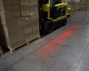 Forklift Red LED Safety Light w/ Horizontal Line Beam Pattern