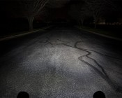 """LED Light Pod - 4"""" Round Mini LED Work Light - 22W - 1,600 Lumens - Output on the Road From Driver's Perspective"""