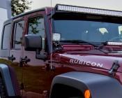 "LED Light Pod - 3.5"" Square LED Work Light - 22W - 1,600 Lumens - Installed on Jeep"