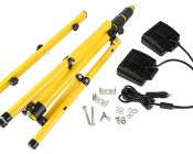 Dual Head Portable LED Work Lights with Tripod Stand - 3,600 Lumens: All Included Parts