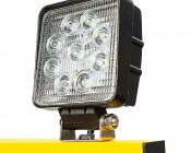 Dual Head Portable LED Work Lights with Tripod Stand - 3,600 Lumens: Close Up of One Work Light