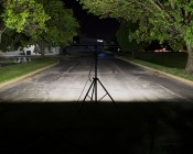 Portable LED Work Light Kit w/ Telescoping Tripod - 64W - 7,000 Lumens: Illuminated Outside On Street