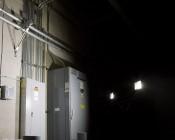 Portable LED Work Light Kit w/ Telescoping Tripod - 64W - 7,000 Lumens: Illuminating Electrical Room