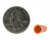 18-16 AWG Orange Wire Nut: Back View With Quarter Comparison