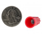 22-10 AWG Red Wire Nut: Back View With Quarter Size Comparison