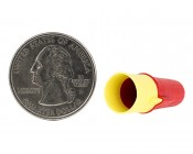 22-8 AWG 3M Wire Nut - Red/Yellow Wire Connector: Inside Shot With Quarter Comparison View