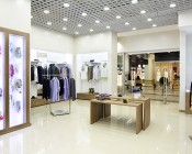 """6"""" Architectural LED Retrofit Downlight with Constant Current Driver: Shown Installed In Store Ceiling."""