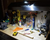 WORKBRITE 2 LED Work Light - NEBO Flashlight: Used on Workbench As Task Lighting in Work Light Mode