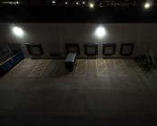 LED Wall Pack - 120W (600W HID Equivalent) - 4000K - 13,600 Lumens - Junction Box or Conduit Install: Illuminated On Side Of Warehouse