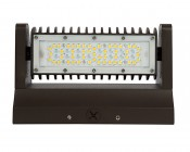 Rotatable LED Wall Pack - 40W (250W MH Equivalent) - 4000K - 4,800 Lumens: Front View