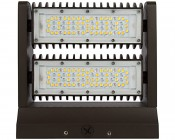 Dual-Head Rotatable LED Wall Pack - 80W (400 MH Equivalent) - 4000K - 10,700 Lumens: Front View