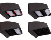 Dual-Head Rotatable LED Wall Pack - 80W (400 MH Equivalent) - 4000K - 10,700 Lumens: Rotatable Heads Diagram