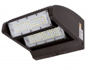 Dual-Head Rotatable LED Wall Pack - 80W (400 MH Equivalent) - 4000K - 10,700 Lumens