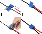 18-14 GA IDC Weatherproof Terminal Splice Tap: Wires Going Into Thermial Splice Tap. Thermal Splice Tap Being Closed.