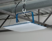 Low-Profile LED Canopy Lights - 150W - 4000K - Flush/Surface/Suspended Mount - 18,000 Lumens - Additonal Accessory Installed in Warehouse Using U-bracket XJ-GSL-UB