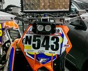"12"" Heavy Duty Off Road  LED Light Bar - 54W: Customer Installed On Bike For AMA National Endurocross"
