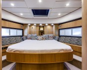 1156 LED Bulb - 28 SMD LED - BA15S Retrofit: Installed in Ceiling Lights on Yacht: Shown In Cool White.