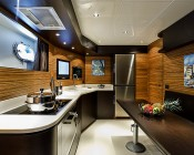 Recessed Light Fixture, 9 LED: Installed in Yacht Galley