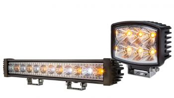 Amber Light Bars and Amber Work Lights