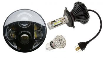 Replacement Motorcycle LED Bulbs and Headlights