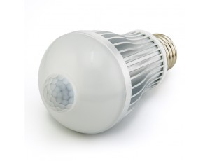 E27-xW6W-PIR - 6 Watt A19 Globe Bulb with Integrated Motion Sensor