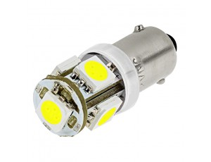 BA9s LED Bulb - 5 LED Tower