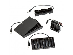 12V DC Battery Power Supply - 8-Cell AA Battery Holder