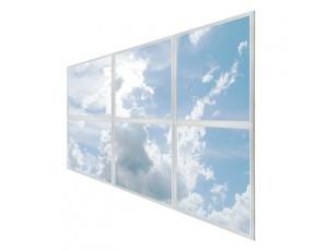 Multi LED Panel Light Display - Skylight Prints - Even-Glow® LED Panels: 6 Panels, Sun Beams