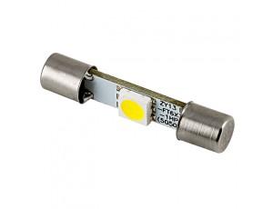 6612F LED Bulb - 1 SMD LED Vehicle Vanity Fuse Lamp - 30mm ...:3AG Fuse LED Bulb - 1 SMD LED Festoon,Lighting