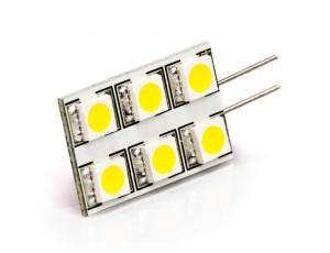 White 6HP-LED Rectangular G4 Lamp
